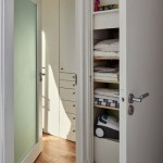 halway storage soltions tiling glass timber doors