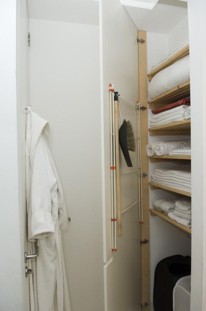 Linen storage ideas.